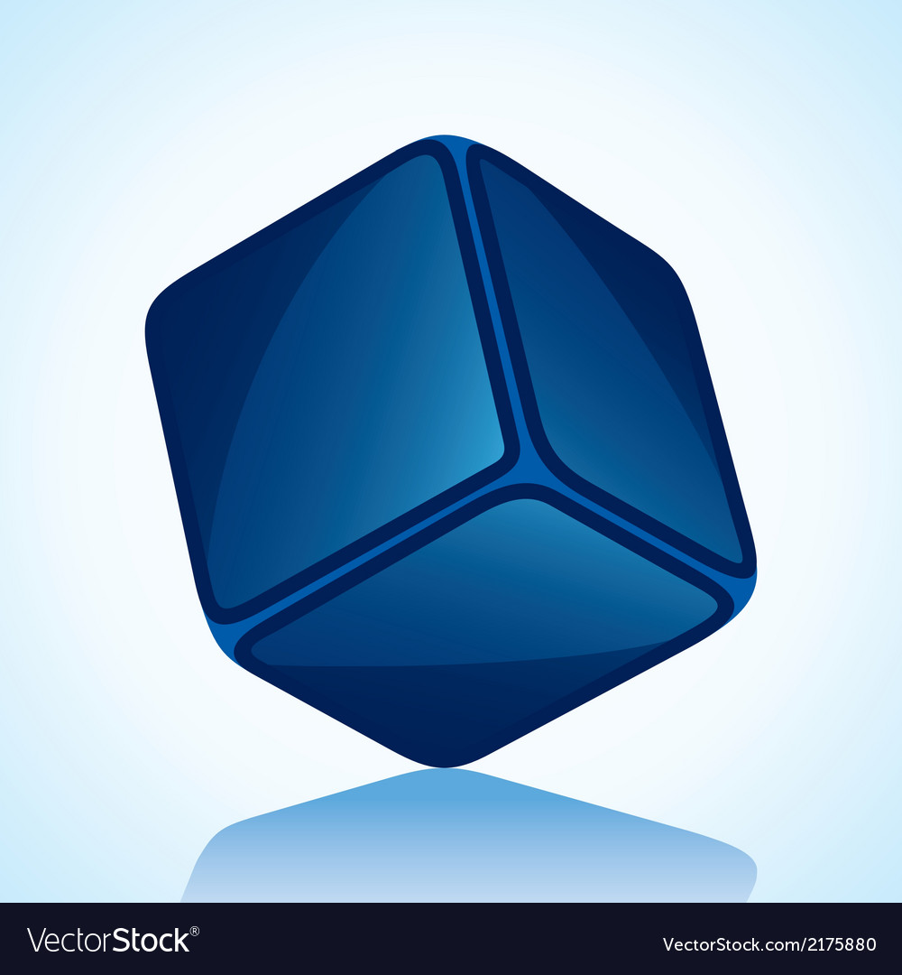Cube is in blue shade stock vector | Price: 1 Credit (USD $1)