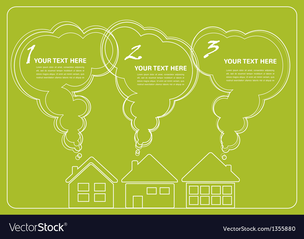 Green village and clean enviroment infographics vector | Price: 1 Credit (USD $1)