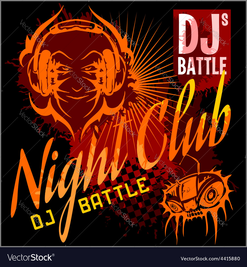 Night party flyer template vector | Price: 3 Credit (USD $3)
