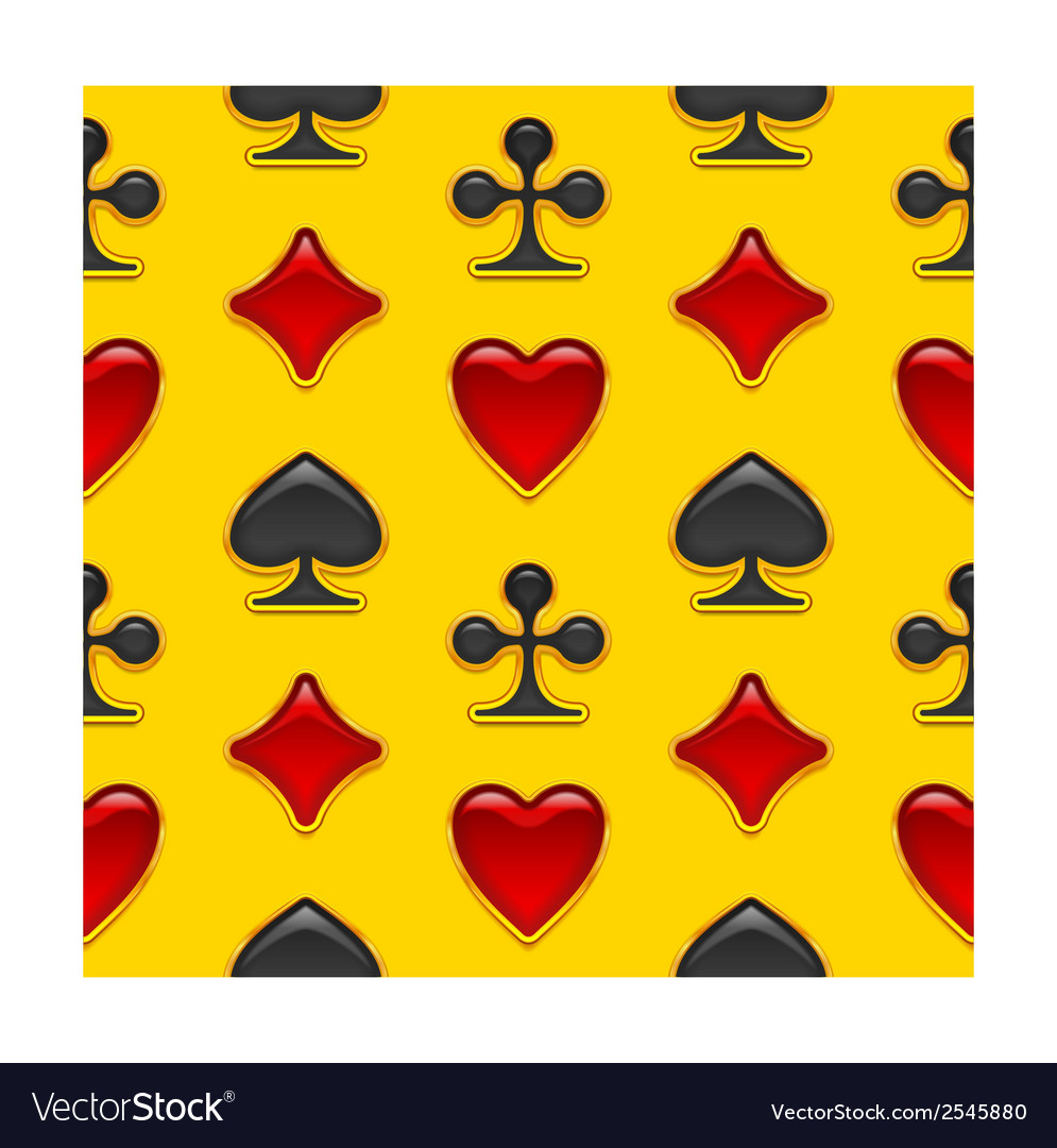 Seamless background with card suits buttons vector   Price: 1 Credit (USD $1)