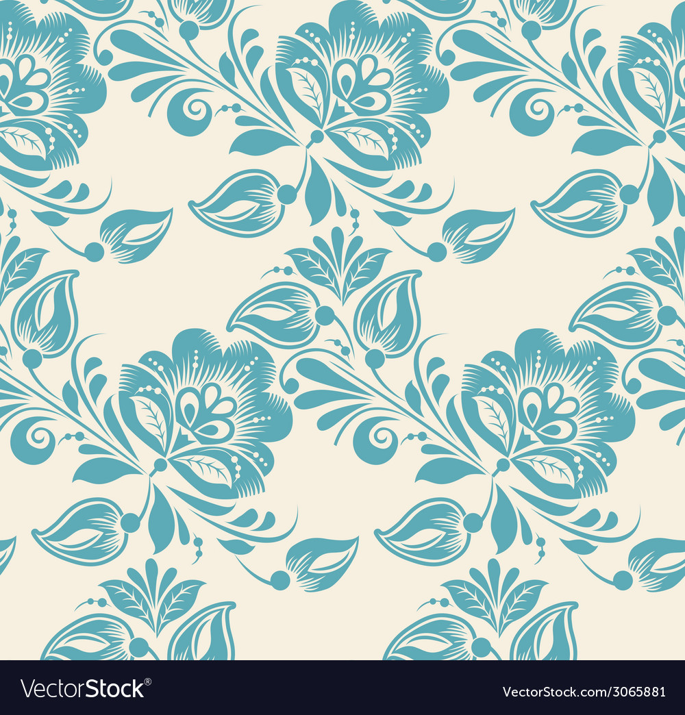 Abstract elegance seamless pattern with floral vector | Price: 1 Credit (USD $1)