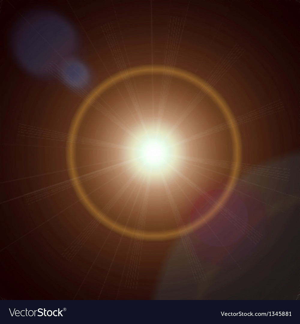 Abstract lens flare light vector | Price: 1 Credit (USD $1)
