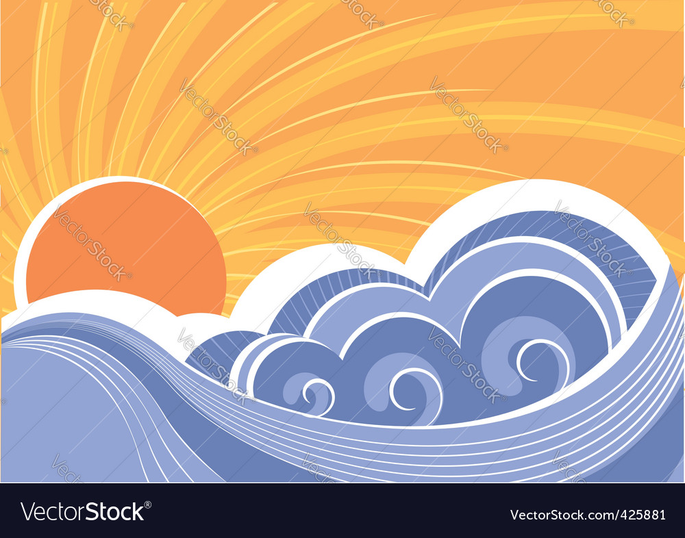 Abstract seascape vector   Price: 1 Credit (USD $1)