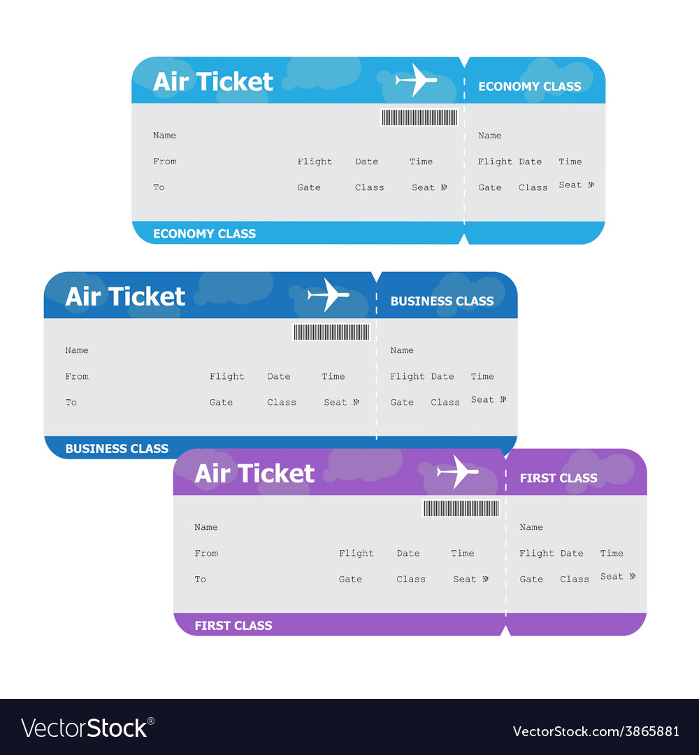 Air tickets isolated on white background vector   Price: 1 Credit (USD $1)