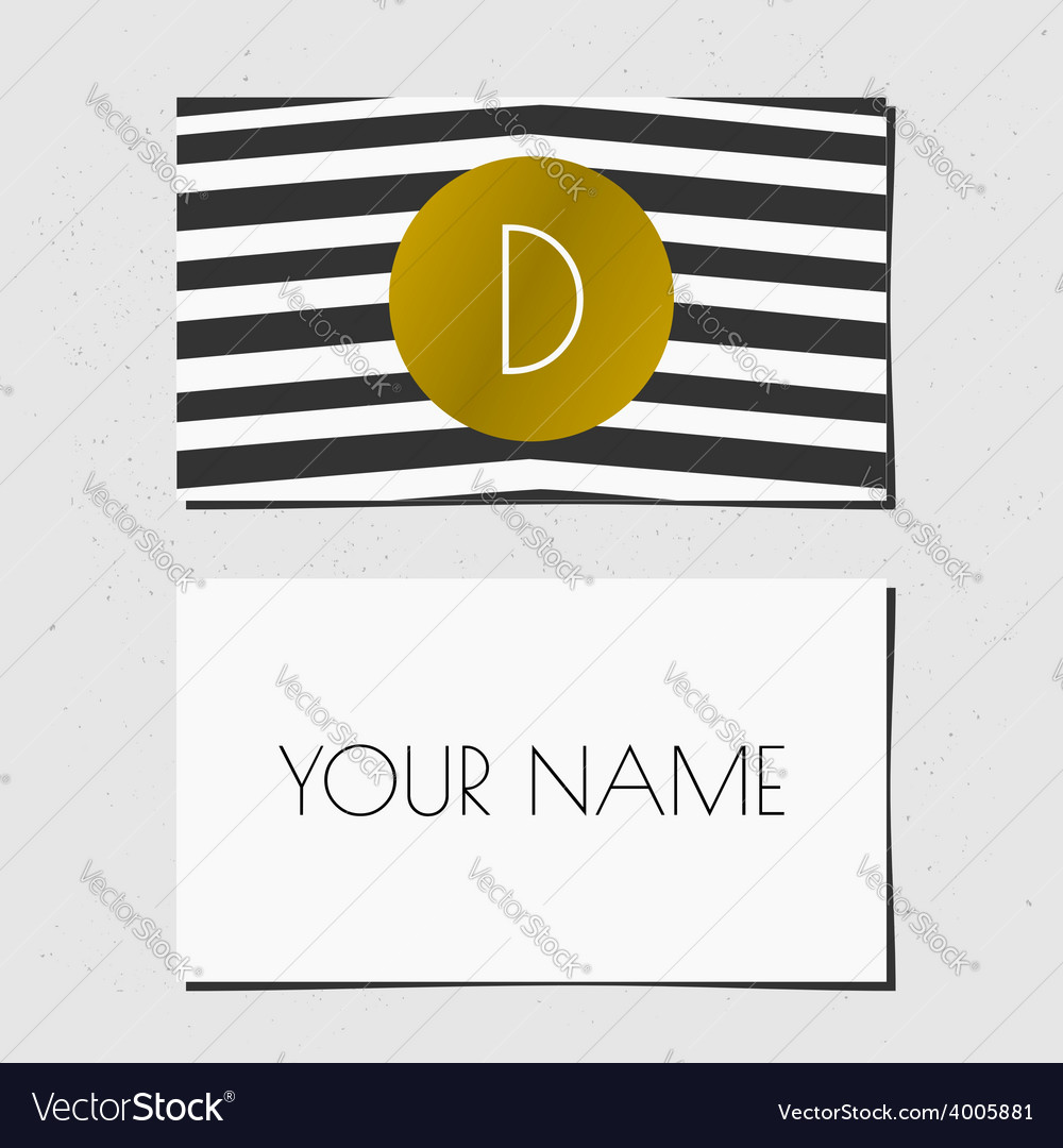 Black white and gold chevron pattern business card vector   Price: 1 Credit (USD $1)