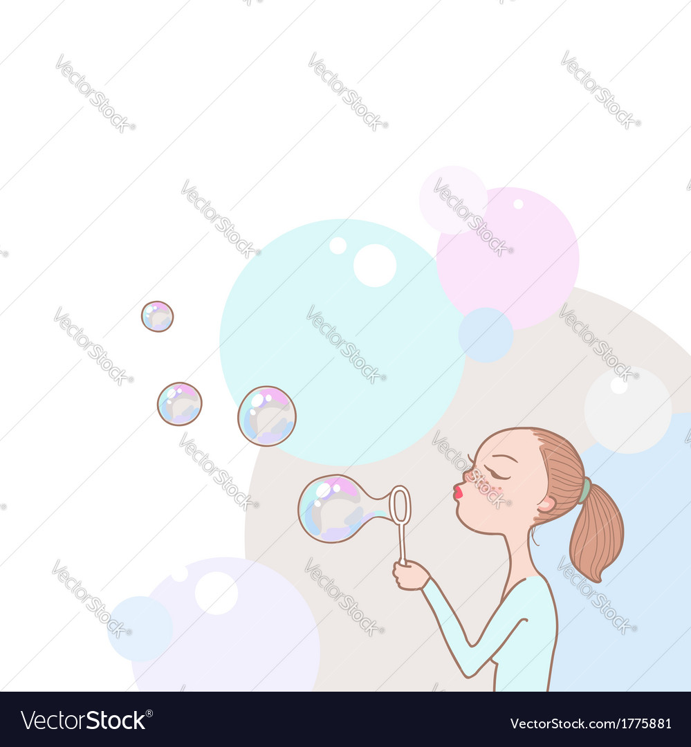 Bubbles girl vector | Price: 1 Credit (USD $1)