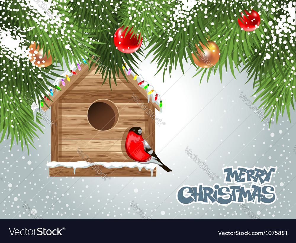 Christmas birdhouse vector | Price: 3 Credit (USD $3)