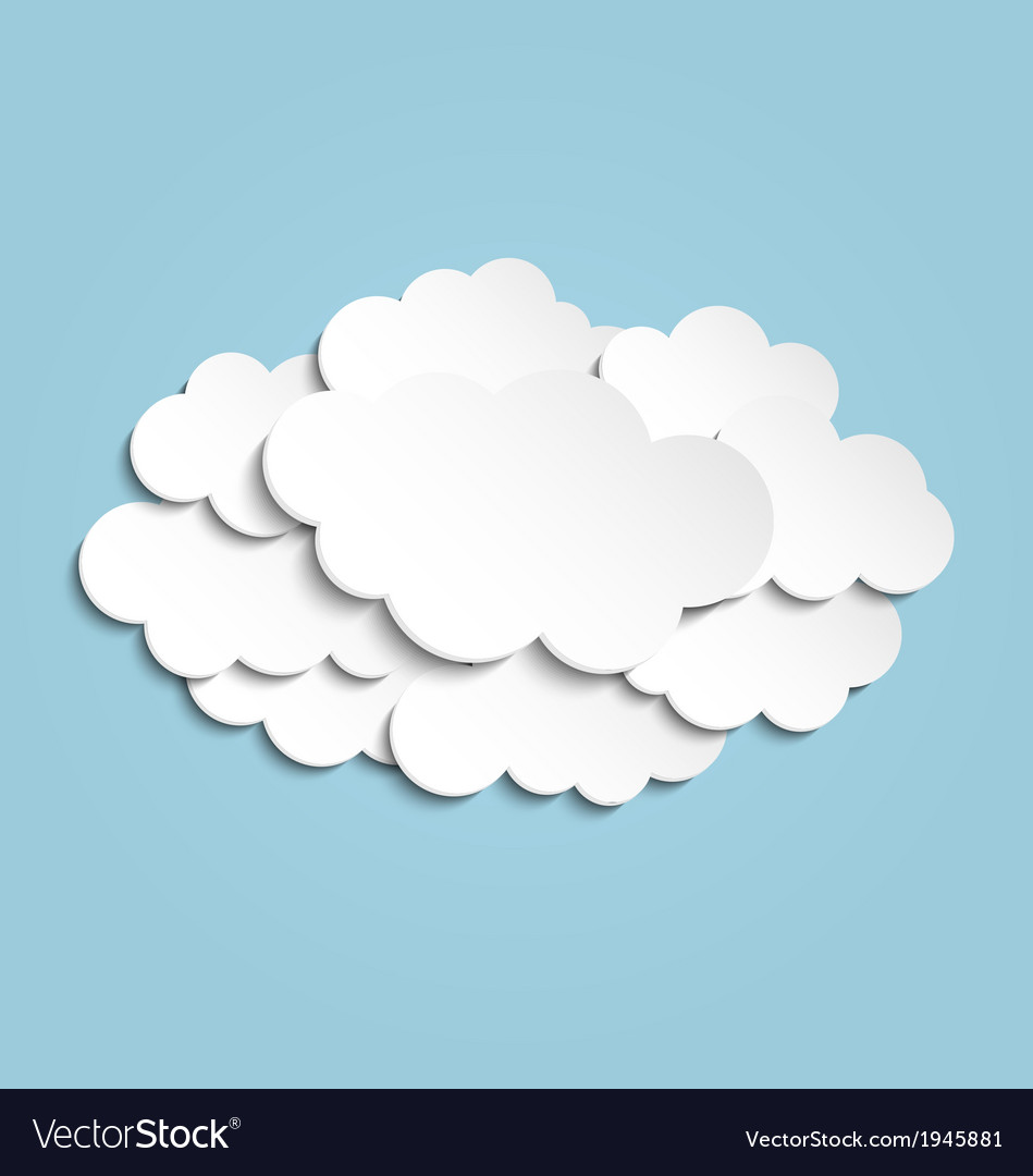 Clouds background vector | Price: 1 Credit (USD $1)