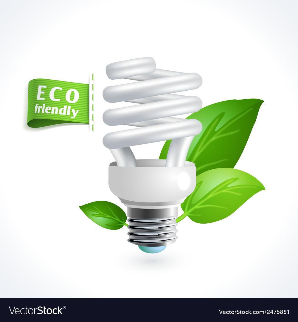 Ecology symbol lightbulb vector | Price: 1 Credit (USD $1)