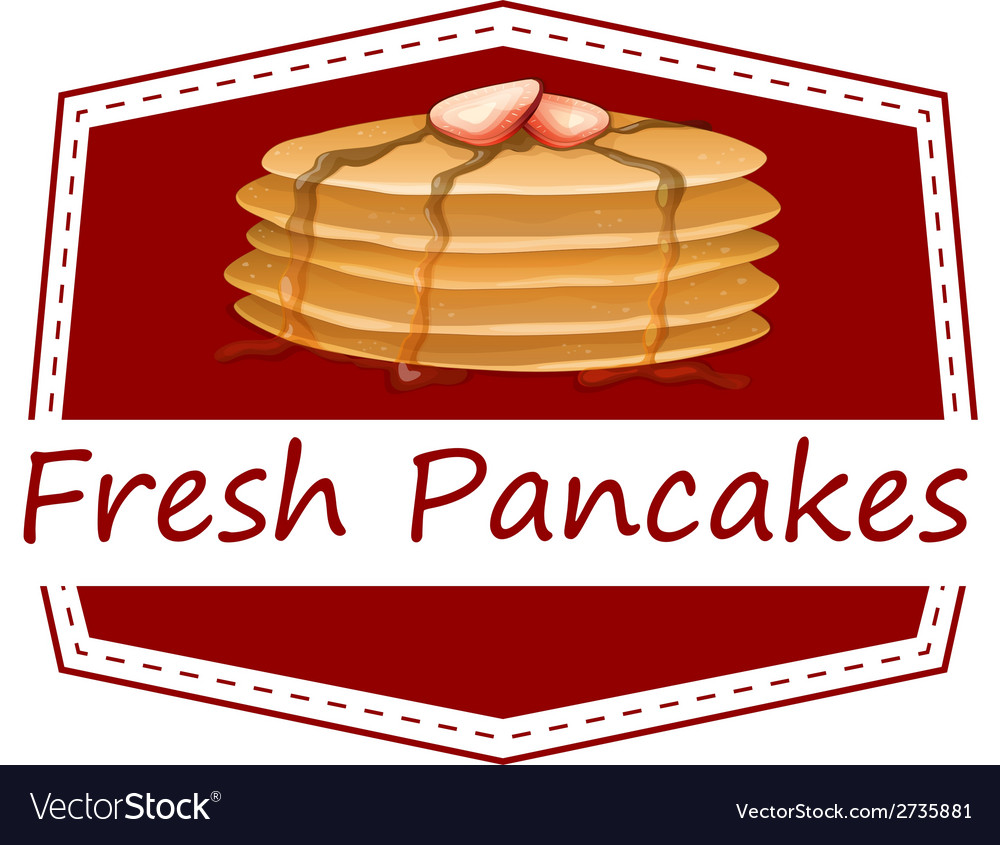 Fresh pancakes template vector | Price: 1 Credit (USD $1)