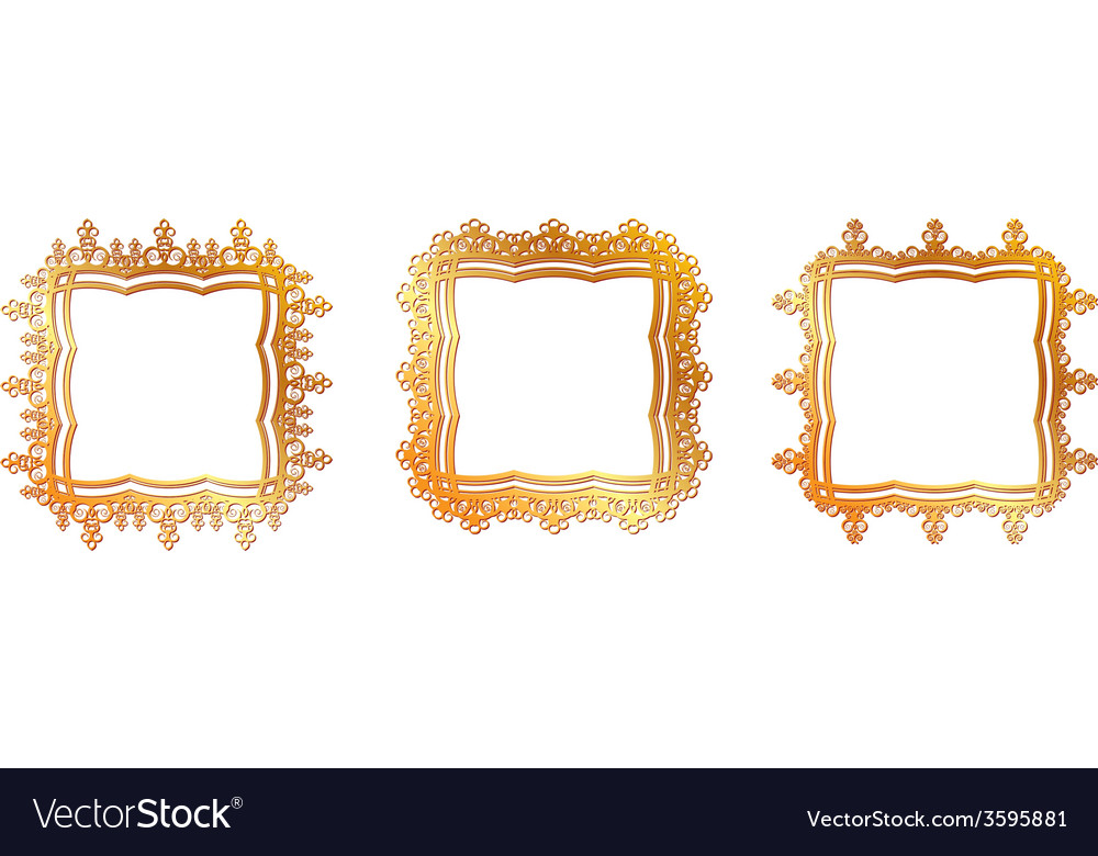 Gold pattern frame vector | Price: 1 Credit (USD $1)