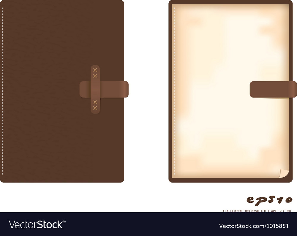 Leather note book vector | Price: 1 Credit (USD $1)