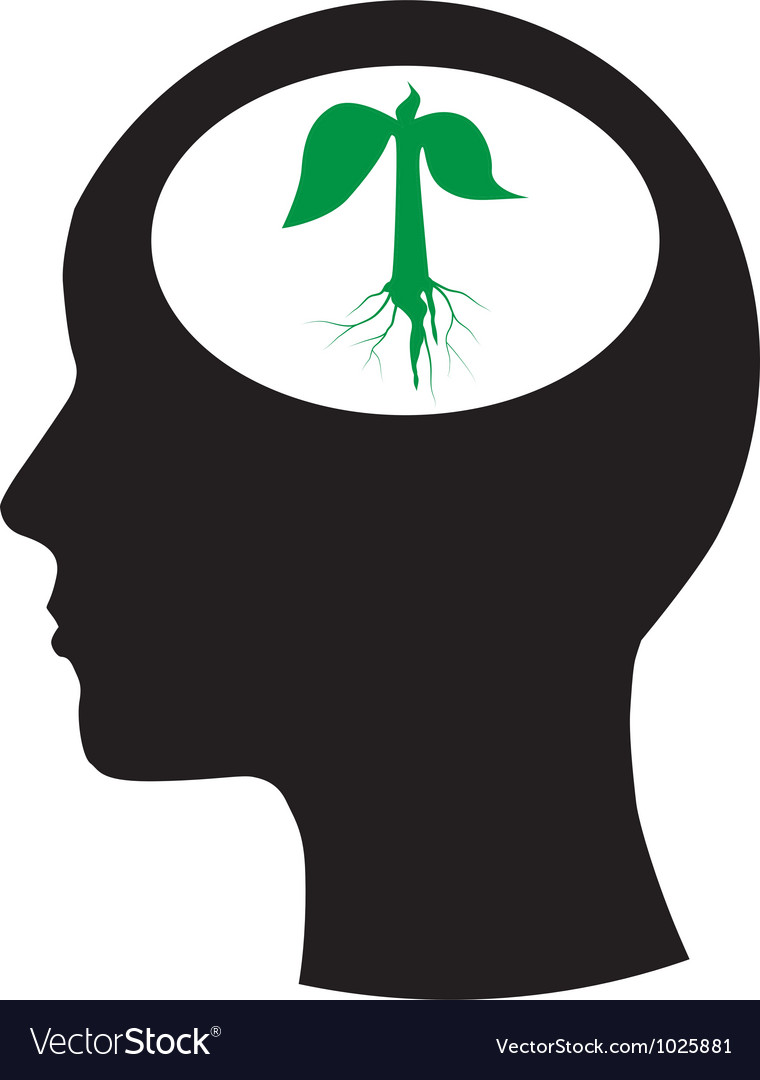 Man and thinking and tree vector | Price: 1 Credit (USD $1)
