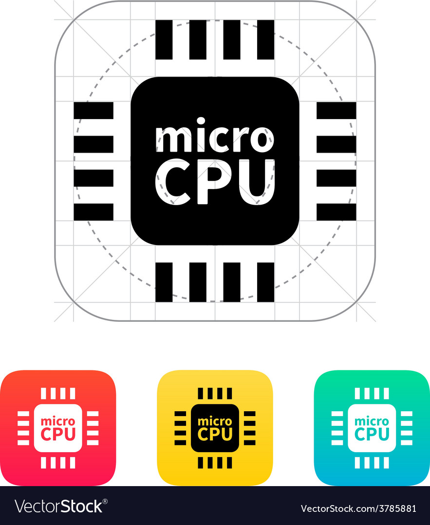 Micro cpu icon vector | Price: 1 Credit (USD $1)
