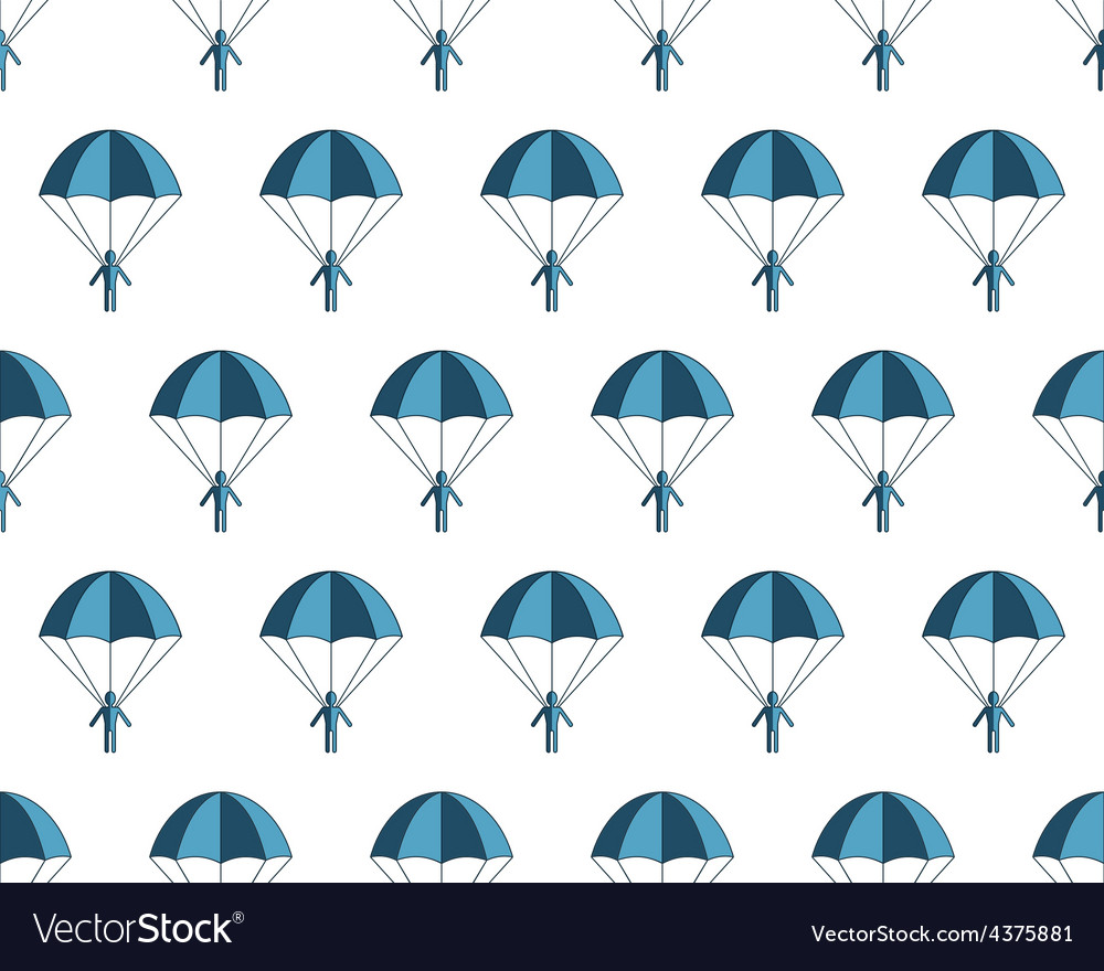 Parachuter pattern vector | Price: 1 Credit (USD $1)