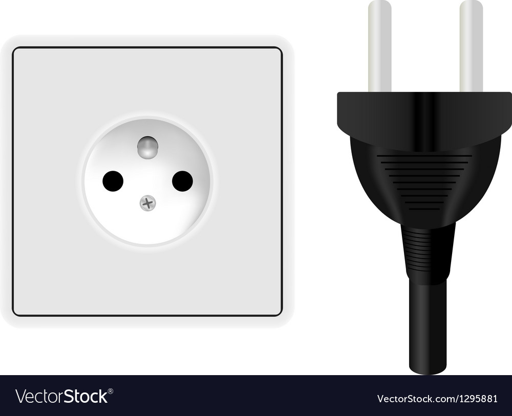 Power plug and socket vector | Price: 1 Credit (USD $1)