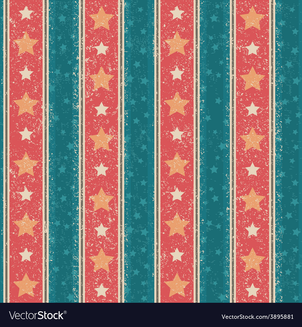 Vintage stars pattern vector | Price: 1 Credit (USD $1)