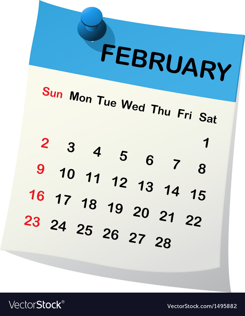 2014 calendar for february vector | Price: 1 Credit (USD $1)