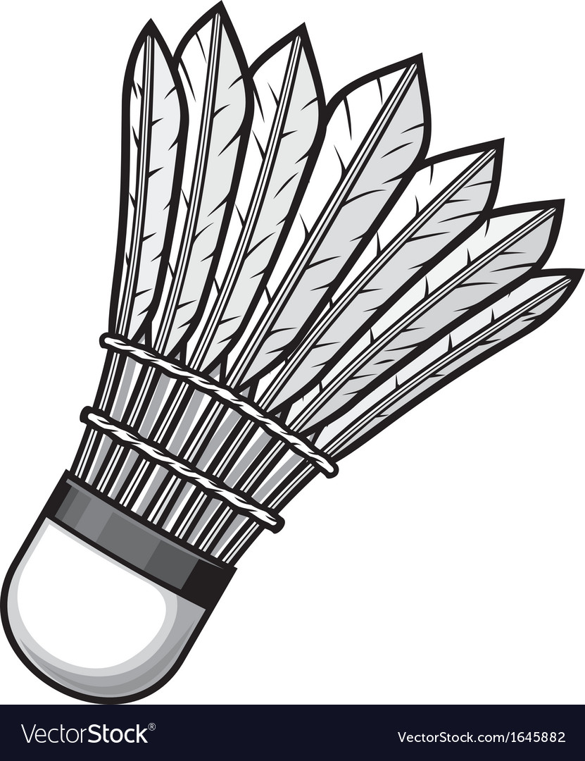Badminton shuttlecock vector | Price: 1 Credit (USD $1)