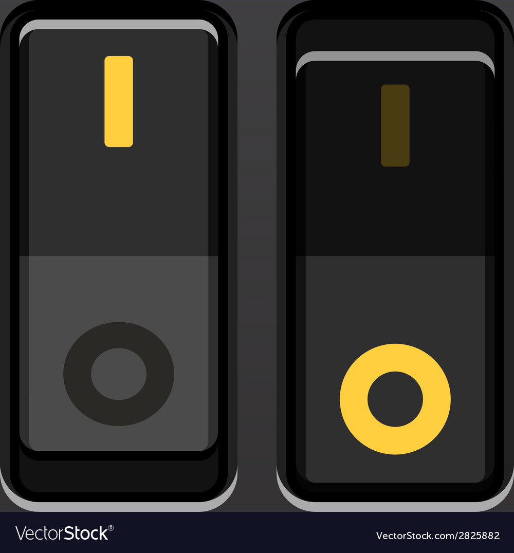 Black toggle power switches vector | Price: 1 Credit (USD $1)