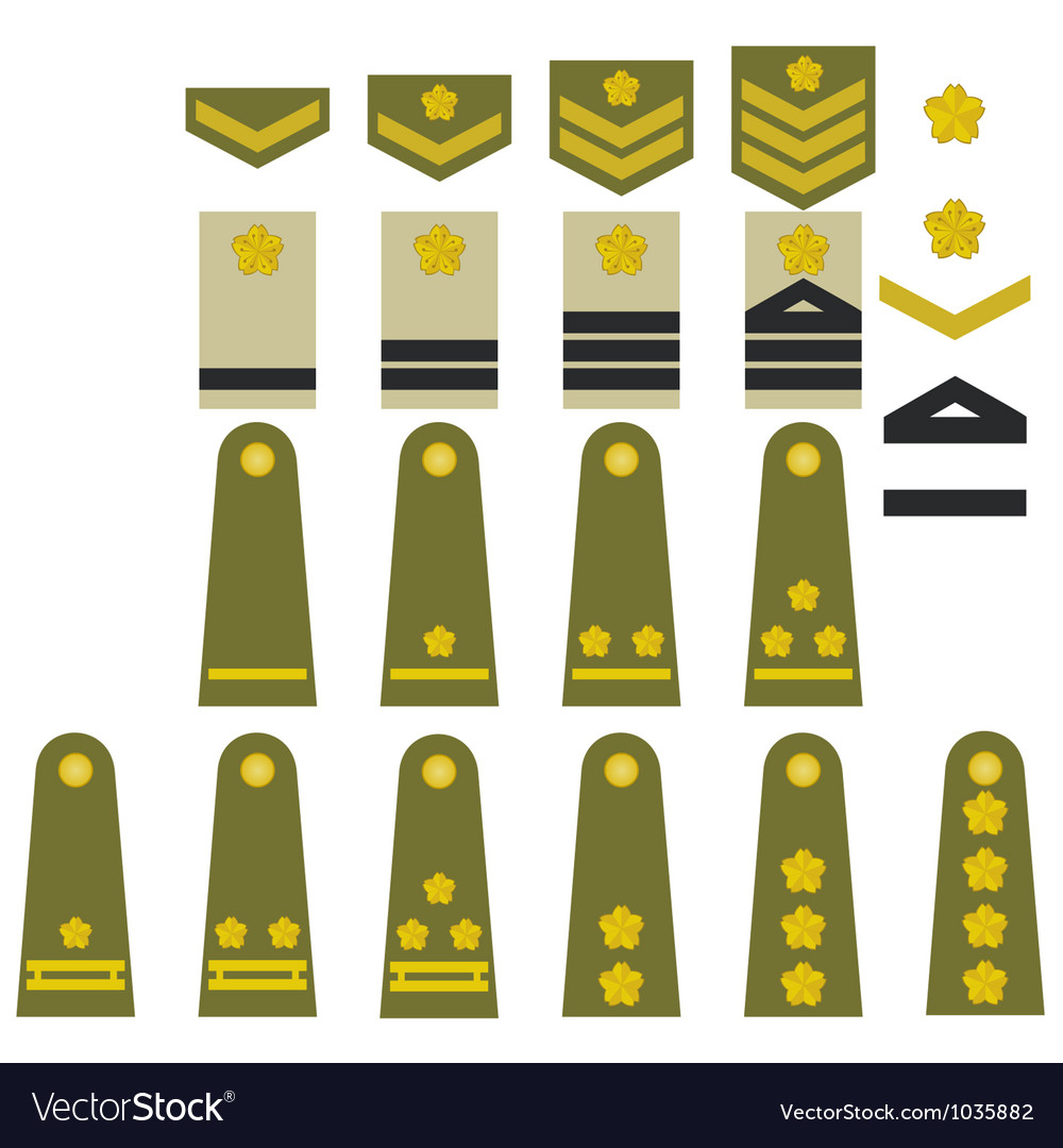 Japanese army insignia vector | Price: 1 Credit (USD $1)