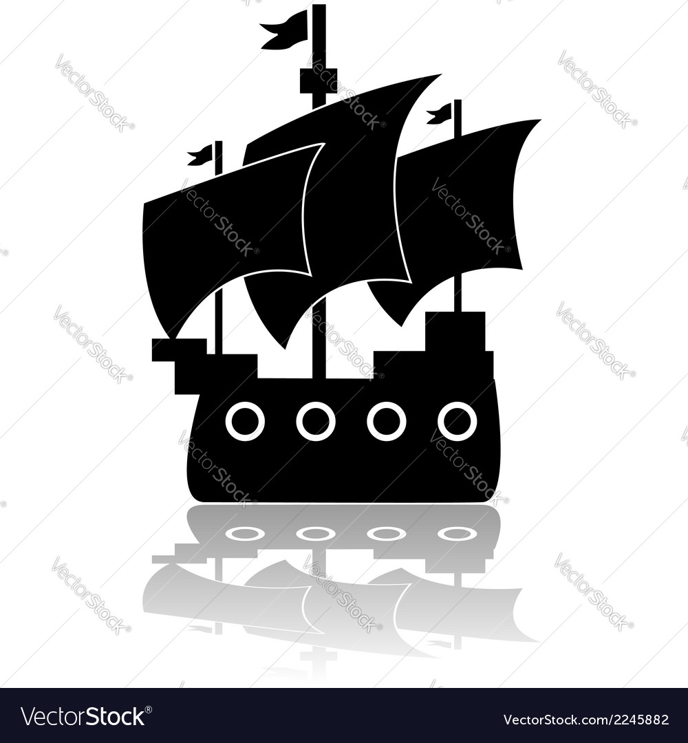 Old ship vector | Price: 1 Credit (USD $1)