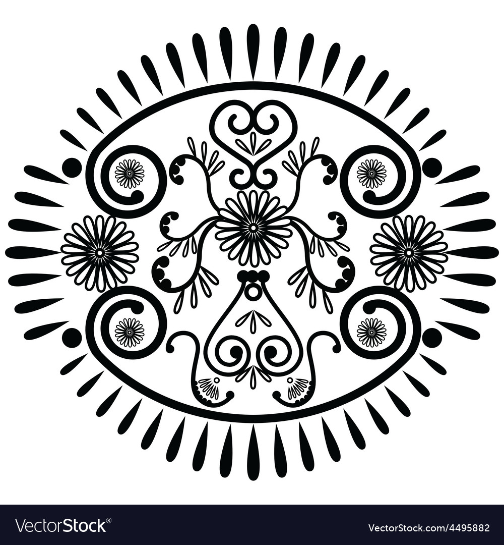 Oval pattern inspired by asian culture vector | Price: 1 Credit (USD $1)