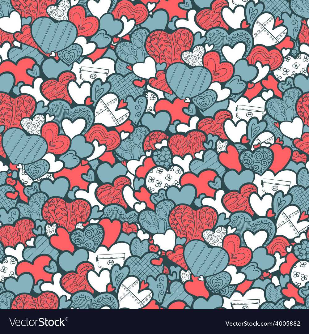 Pattern with hearts vector | Price: 1 Credit (USD $1)