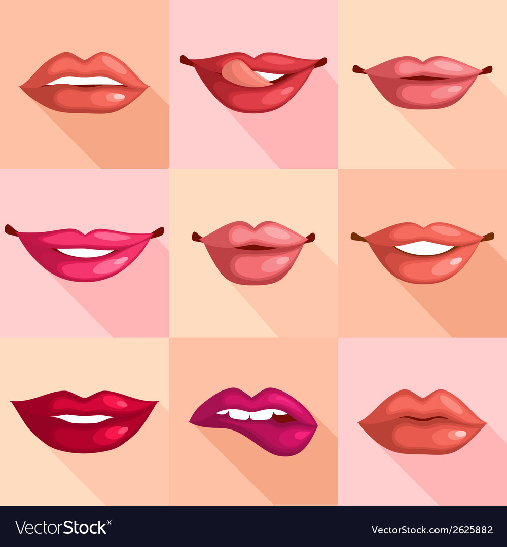 Set of lips vector | Price: 1 Credit (USD $1)