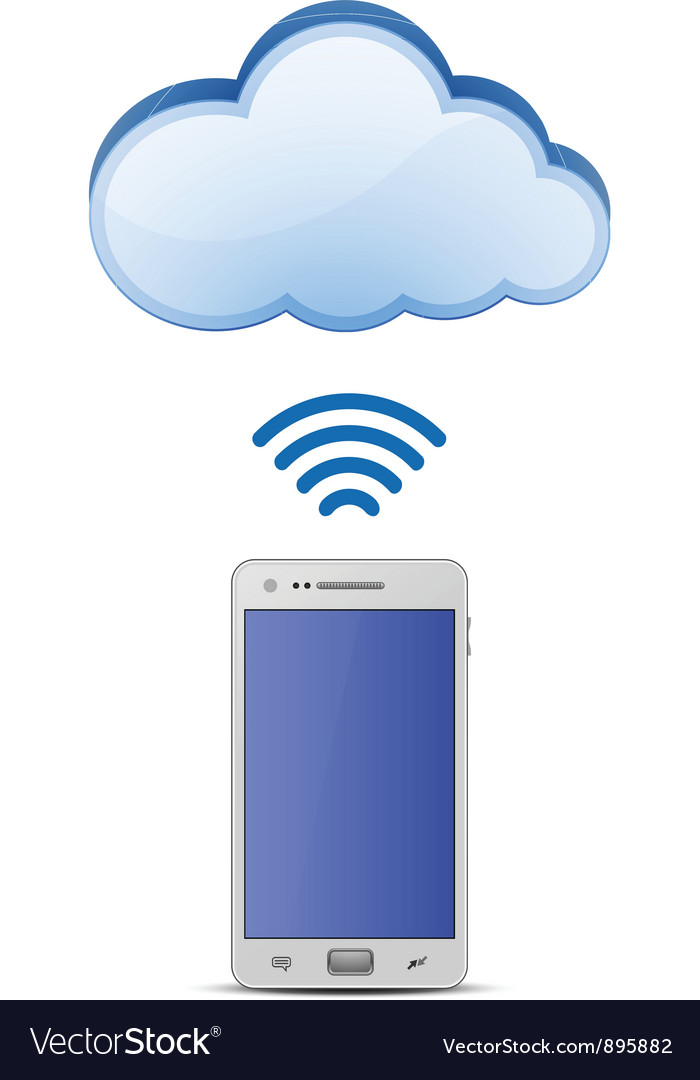 Smart phone and cloud network vector | Price: 3 Credit (USD $3)