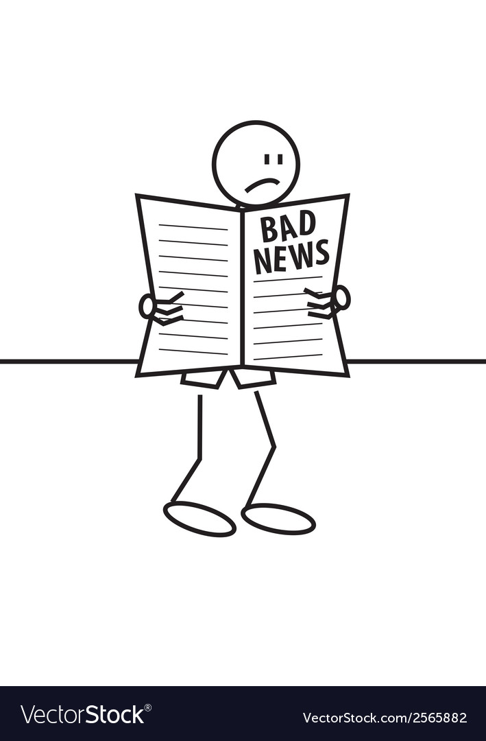 Stick figure bad news vector | Price: 1 Credit (USD $1)