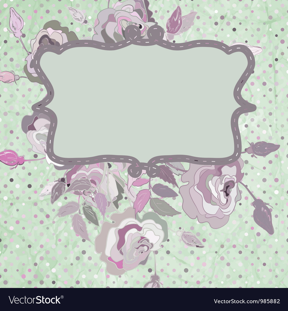 Vintage background flower template eps 8 vector | Price: 1 Credit (USD $1)