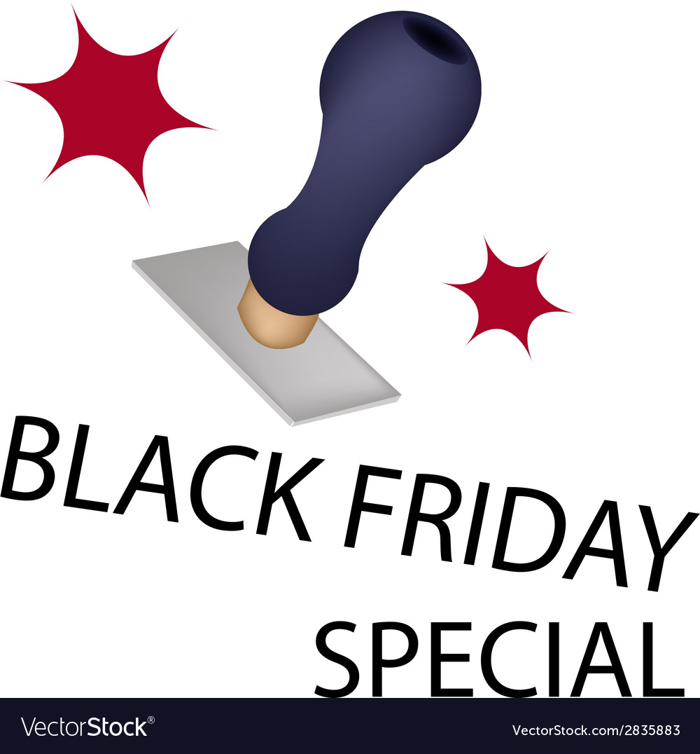 A rubber stamp with word black friday special vector | Price: 1 Credit (USD $1)