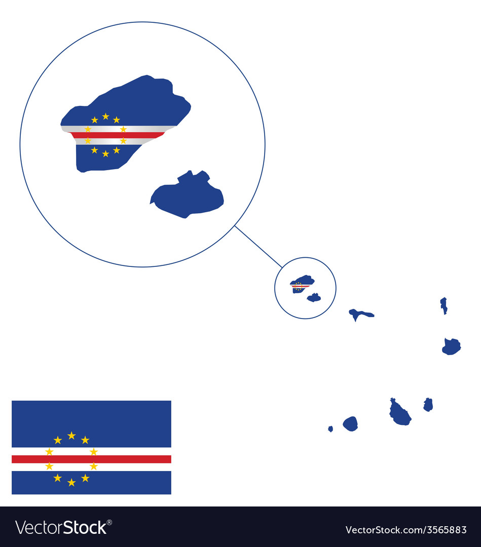Cape verde flag vector | Price: 1 Credit (USD $1)