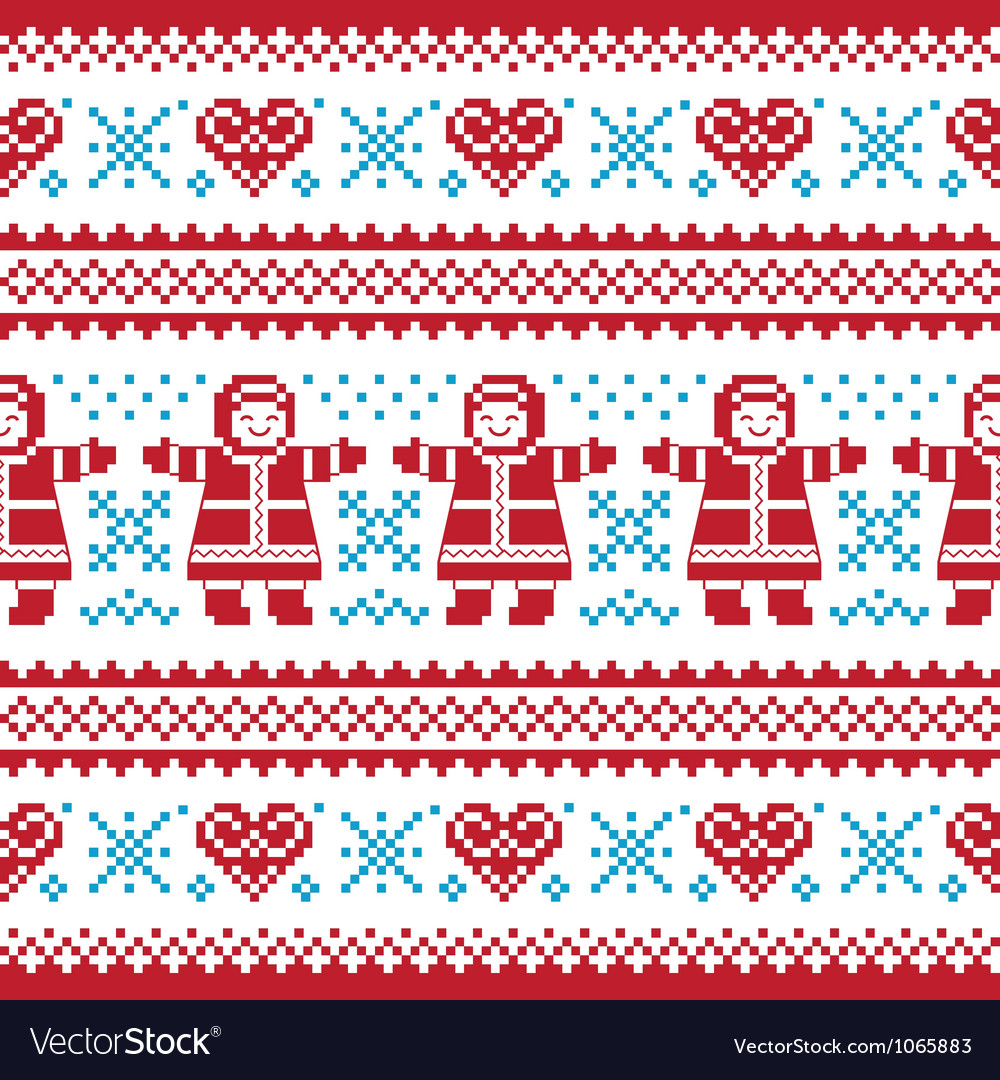 Christmas winter knitted pattern card vector | Price: 1 Credit (USD $1)