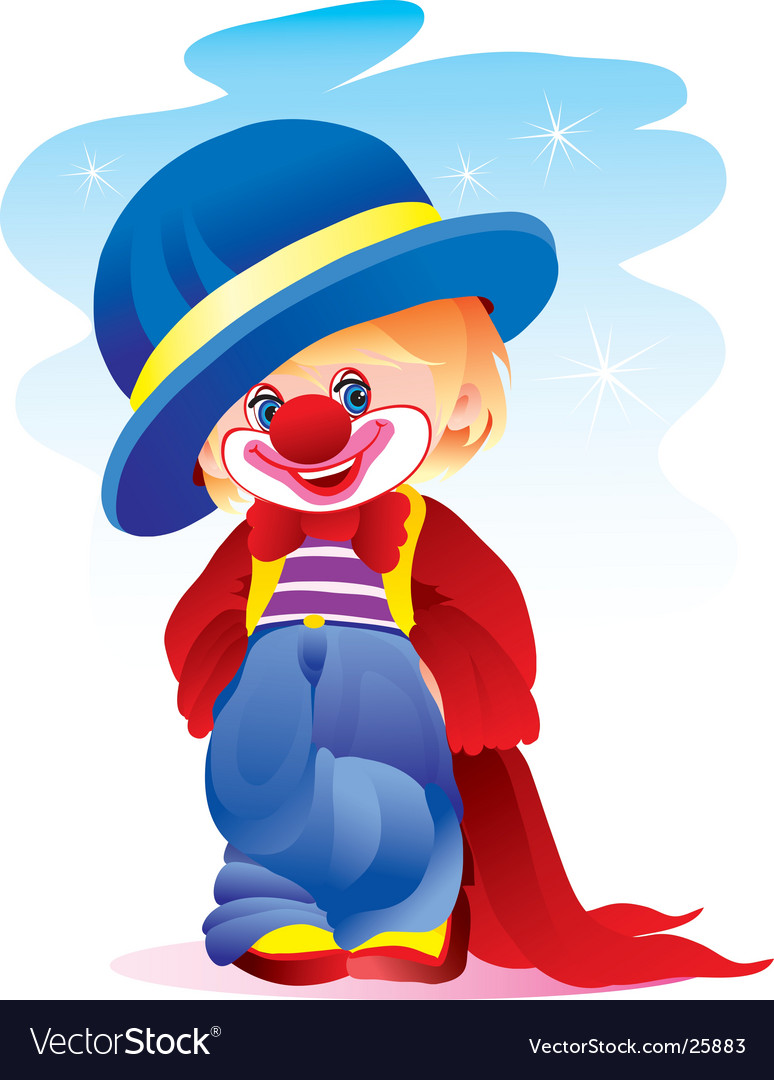 The clown in a hat vector   Price: 3 Credit (USD $3)