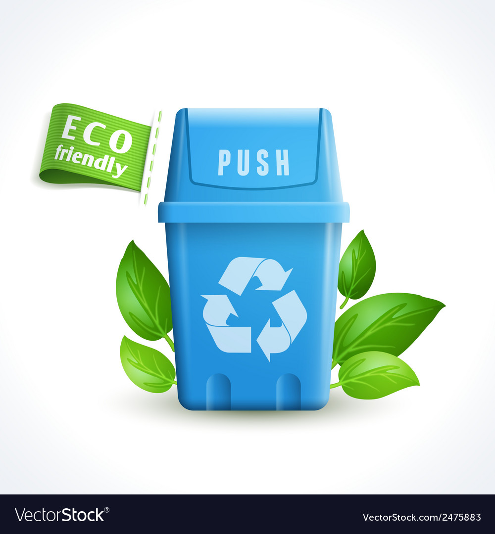 Ecology symbol trash can vector | Price: 1 Credit (USD $1)