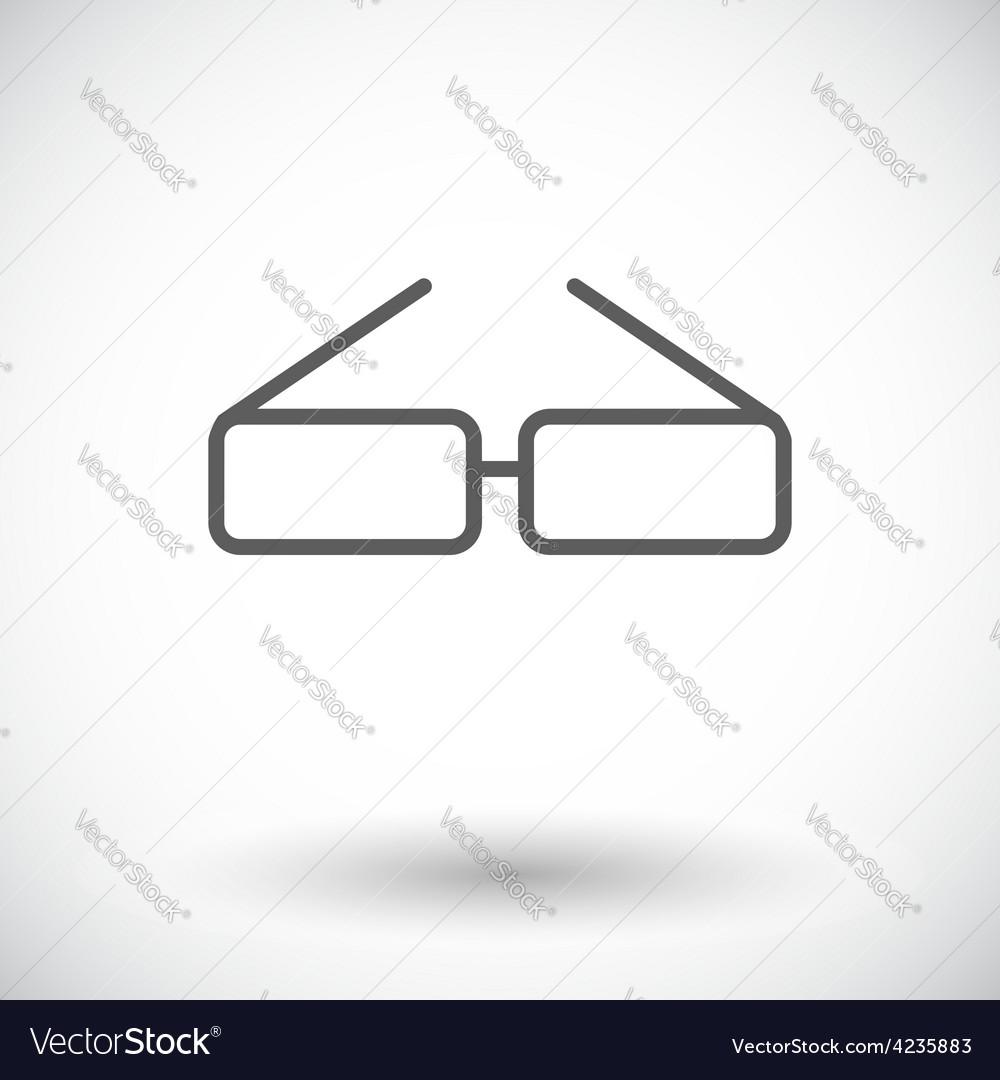 Glasses single icon vector | Price: 1 Credit (USD $1)