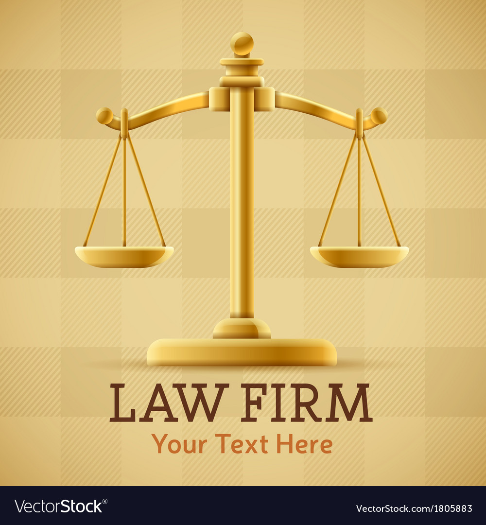 Law firm justice scale background vector | Price: 1 Credit (USD $1)