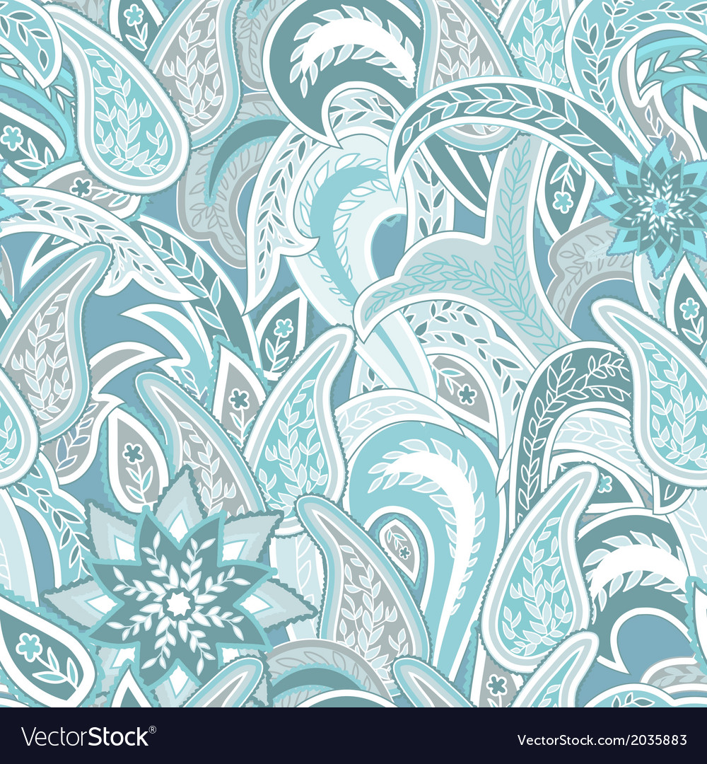 Paisley colorful seamless background vector | Price: 1 Credit (USD $1)