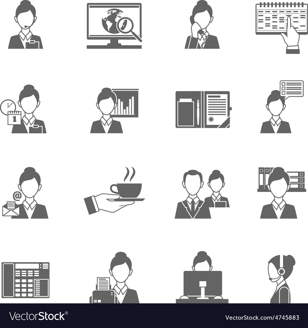 Personal assistant icons vector | Price: 1 Credit (USD $1)