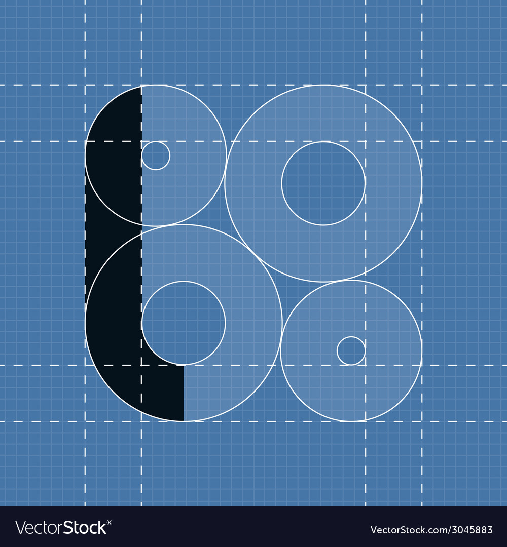 Round engineering font symbol l vector | Price: 1 Credit (USD $1)
