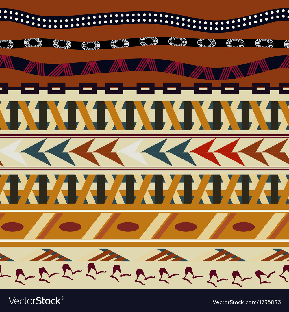 Tribal seamless texture in the african style vector | Price: 1 Credit (USD $1)