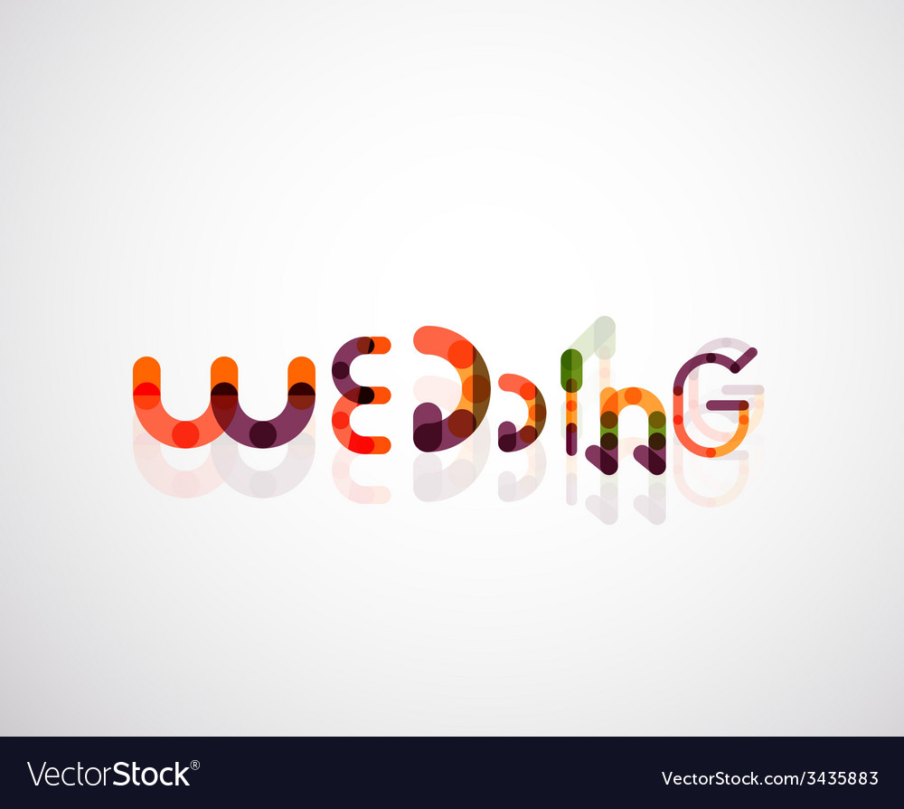 Wedding word font concept design vector | Price: 1 Credit (USD $1)