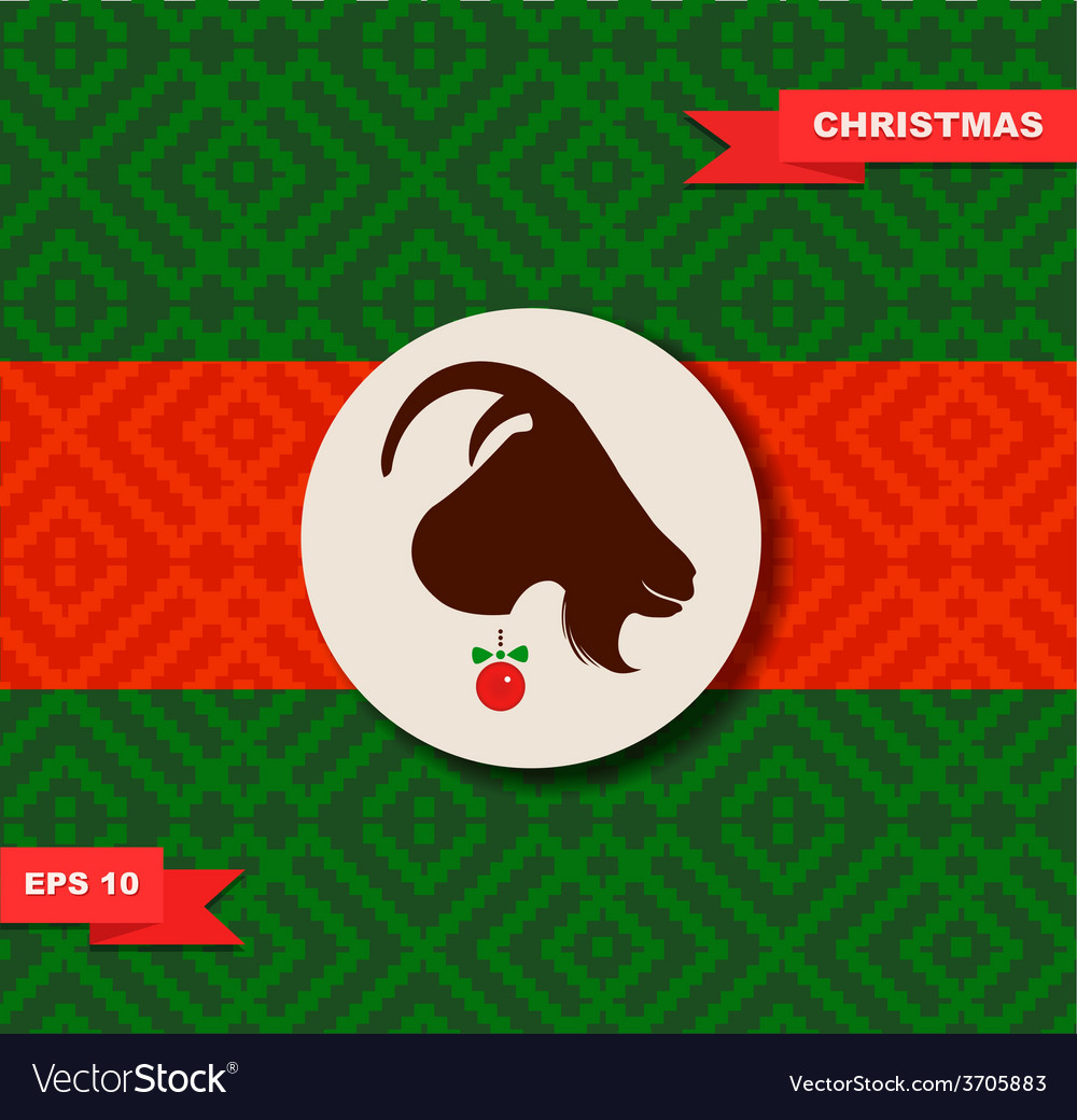 Year of the goat design vector | Price: 1 Credit (USD $1)