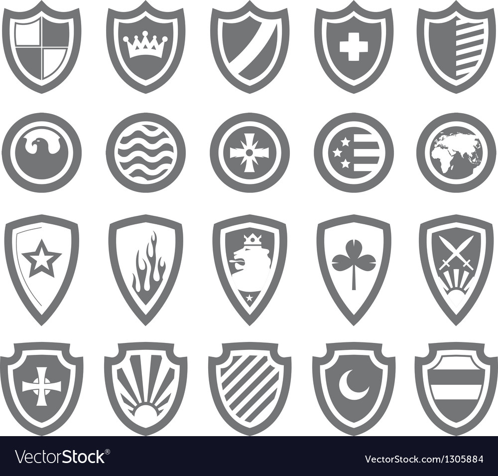 Abstract victorian arms on shields vector | Price: 1 Credit (USD $1)