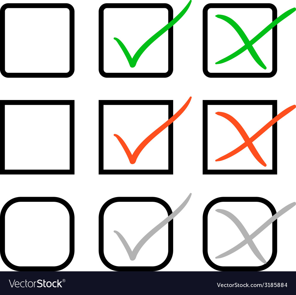 Check marks vector | Price: 1 Credit (USD $1)