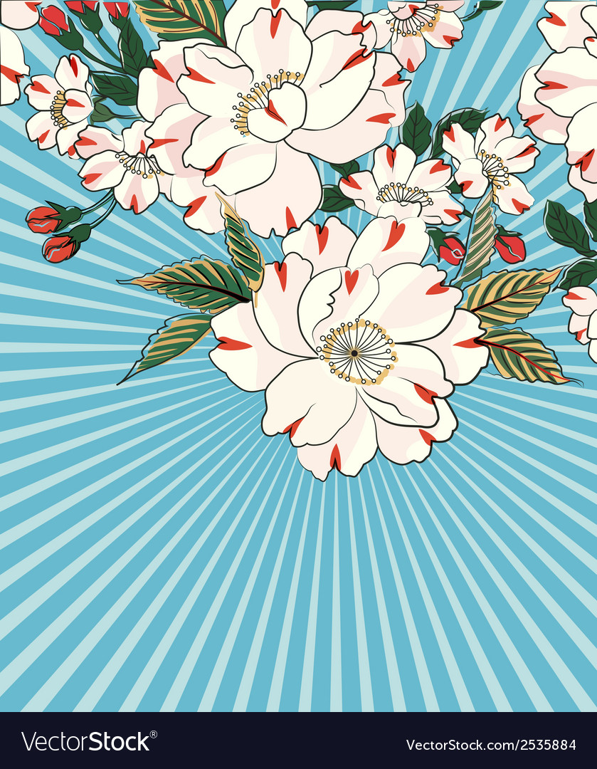 Floral-rays vector | Price: 1 Credit (USD $1)