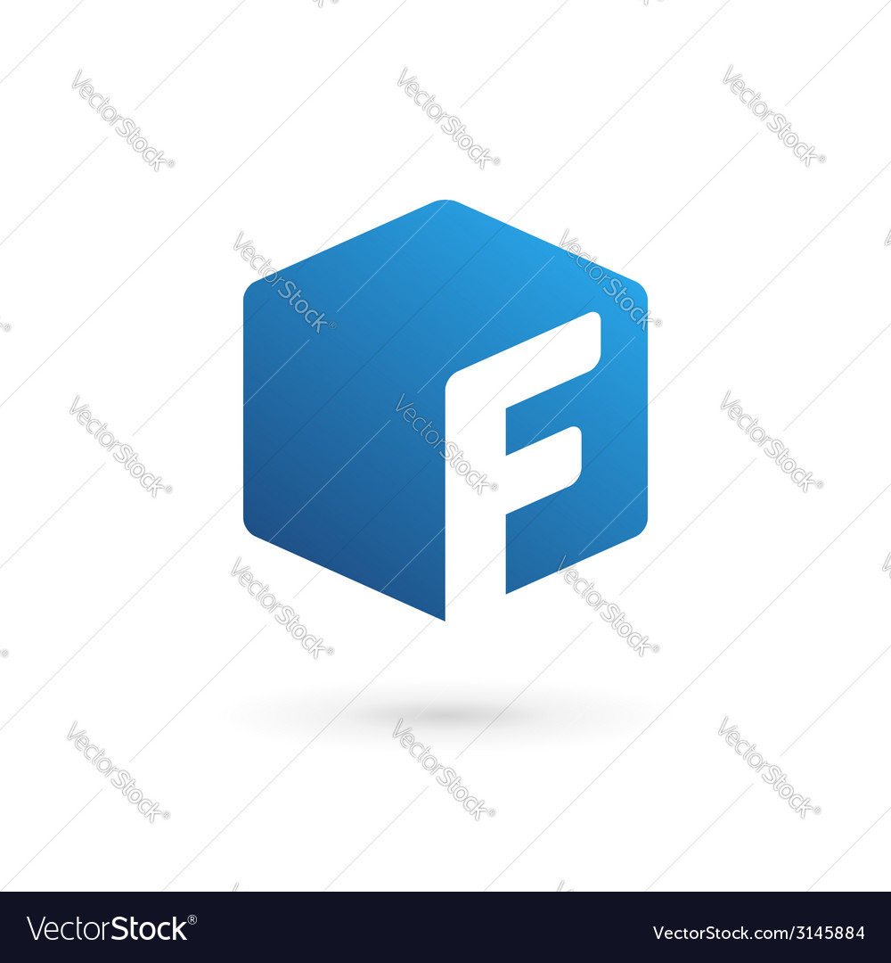 Letter f cube logo icon vector | Price: 1 Credit (USD $1)