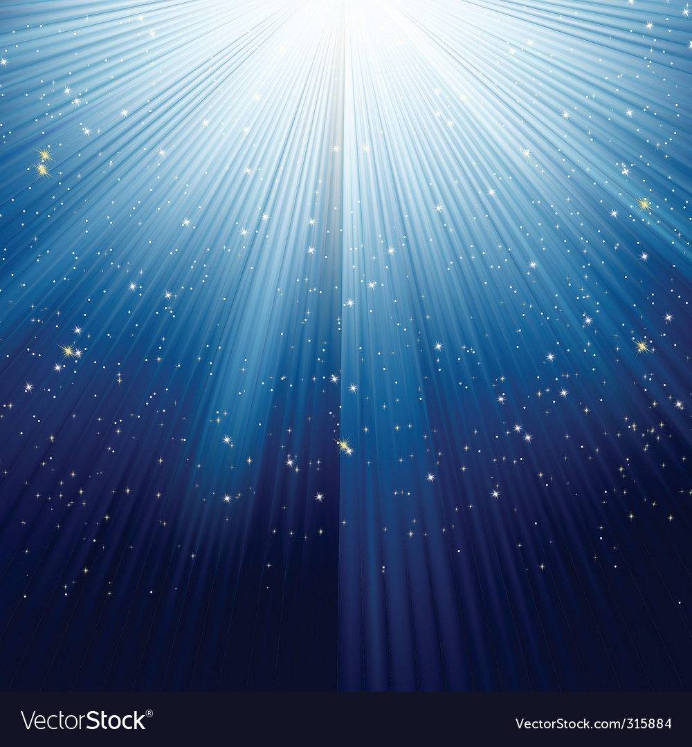 Light burst and stars vector | Price: 1 Credit (USD $1)